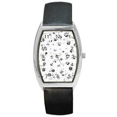 White and gray soul Barrel Style Metal Watch