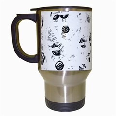 White and gray soul Travel Mugs (White)