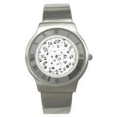 White and gray soul Stainless Steel Watch