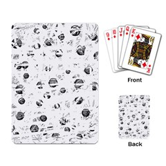 White and gray soul Playing Card