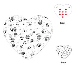 White And Gray Soul Playing Cards (heart)