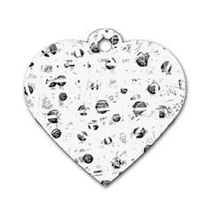 White and gray soul Dog Tag Heart (Two Sides)