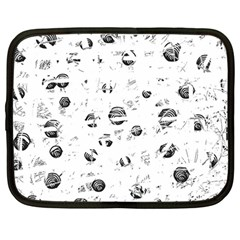 White and gray soul Netbook Case (Large)