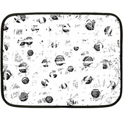 White and gray soul Double Sided Fleece Blanket (Mini)