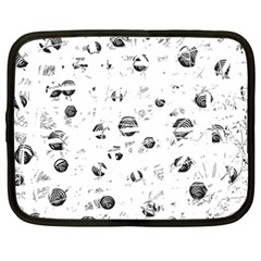 White and gray soul Netbook Case (XXL)
