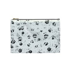 White and gray soul Cosmetic Bag (Medium)