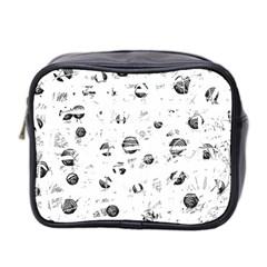 White and gray soul Mini Toiletries Bag 2-Side