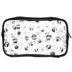 White and gray soul Toiletries Bags