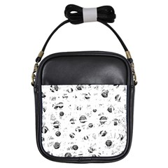 White and gray soul Girls Sling Bags
