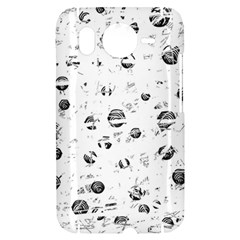 White and gray soul HTC Desire HD Hardshell Case