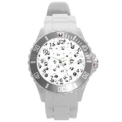 White and gray soul Round Plastic Sport Watch (L)