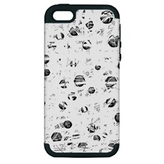 White and gray soul Apple iPhone 5 Hardshell Case (PC+Silicone)