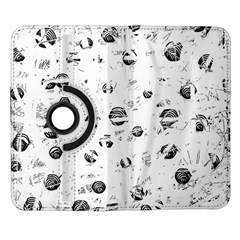 White and gray soul Samsung Galaxy Note II Flip 360 Case