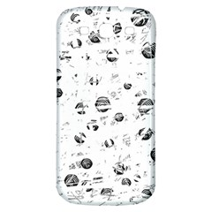 White and gray soul Samsung Galaxy S3 S III Classic Hardshell Back Case