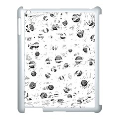 White and gray soul Apple iPad 3/4 Case (White)