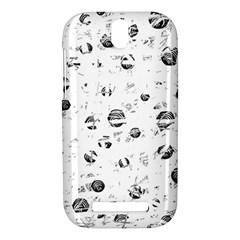 White and gray soul HTC One SV Hardshell Case