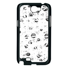 White and gray soul Samsung Galaxy Note 2 Case (Black)