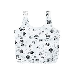 White and gray soul Full Print Recycle Bags (S)