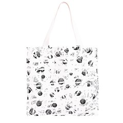 White and gray soul Grocery Light Tote Bag