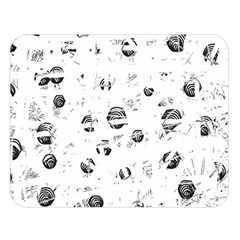 White and gray soul Double Sided Flano Blanket (Large)