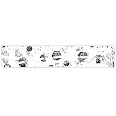 White and gray soul Flano Scarf (Large)