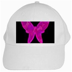 Purple butterfly White Cap