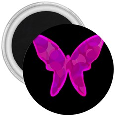 Purple butterfly 3  Magnets
