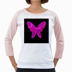 Purple butterfly Girly Raglans