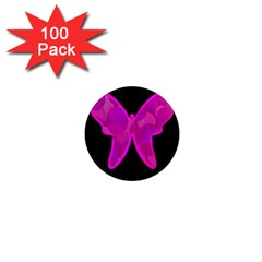 Purple butterfly 1  Mini Magnets (100 pack)