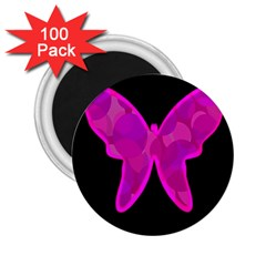 Purple butterfly 2.25  Magnets (100 pack)