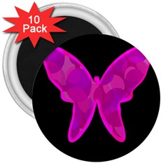 Purple butterfly 3  Magnets (10 pack)