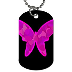 Purple butterfly Dog Tag (Two Sides)