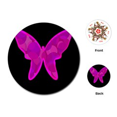 Purple butterfly Playing Cards (Round)