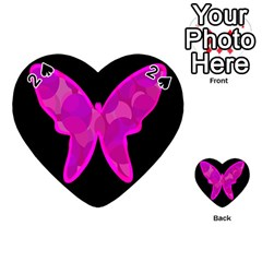 Purple butterfly Playing Cards 54 (Heart)