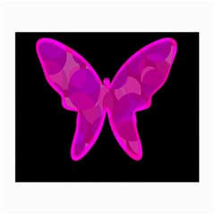 Purple butterfly Small Glasses Cloth (2-Side)