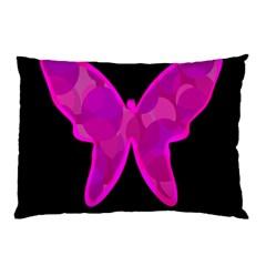 Purple butterfly Pillow Case