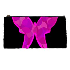 Purple butterfly Pencil Cases