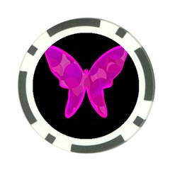 Purple butterfly Poker Chip Card Guards (10 pack)