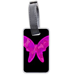 Purple butterfly Luggage Tags (One Side)