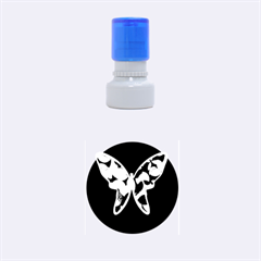 Purple butterfly Rubber Round Stamps (Small)