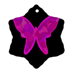 Purple butterfly Ornament (Snowflake)