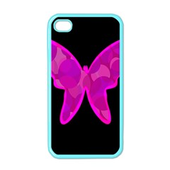 Purple butterfly Apple iPhone 4 Case (Color)