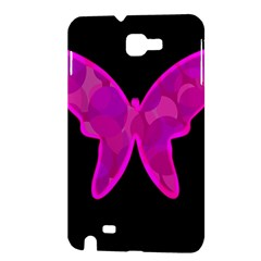 Purple butterfly Samsung Galaxy Note 1 Hardshell Case