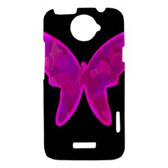 Purple butterfly HTC One X Hardshell Case