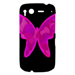 Purple butterfly HTC Desire S Hardshell Case