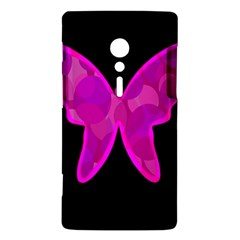 Purple butterfly Sony Xperia ion
