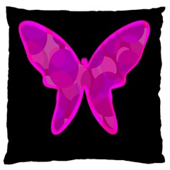 Purple butterfly Large Cushion Case (Two Sides)