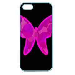 Purple butterfly Apple Seamless iPhone 5 Case (Color)