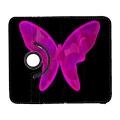 Purple butterfly Samsung Galaxy S  III Flip 360 Case