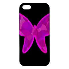 Purple butterfly Apple iPhone 5 Premium Hardshell Case